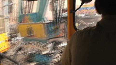Tuk Tuk in busy street Stock Video Footage