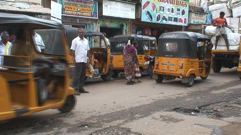 Tuk Tuk in India Stock Video Footage