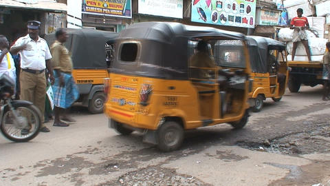Tuk Tuk in India Stock Video Footage