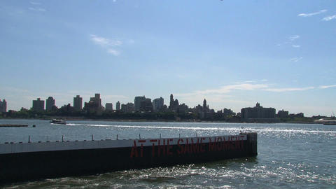 Ferry NYC Stock Video Footage