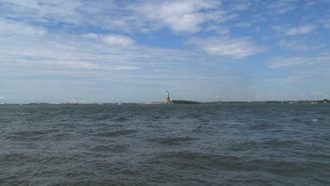 Fast zoom out fromThe Statue of Liberty Footage
