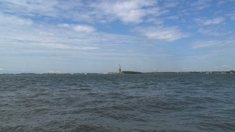 Fast zoom out fromThe Statue of Liberty Stock Video Footage