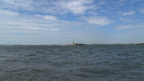 The Statue of Liberty zoom out Footage
