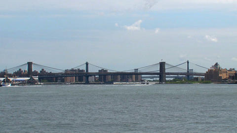 Brooklyne bridge and ferries Footage