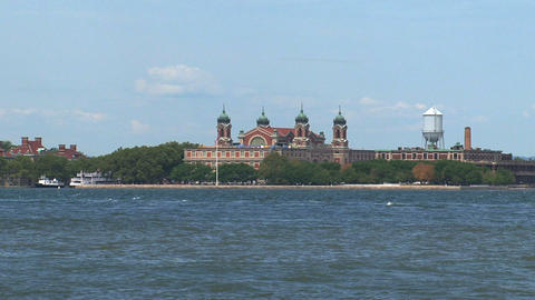 Ellis island New York City Stock Video Footage