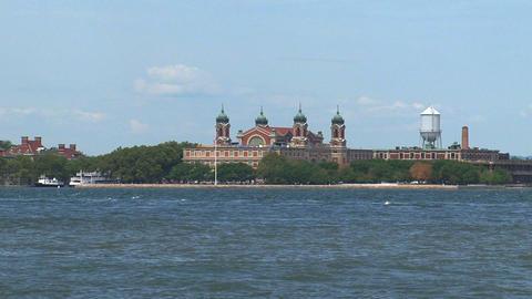 Ellis island New York City Stock Video Footage