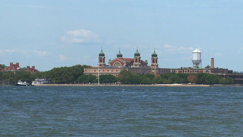 Ellis island New York City Footage