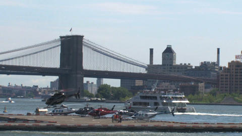 Helicopter NYC Stock Video Footage