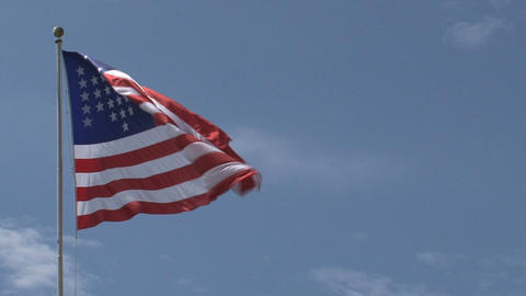 Close up American flag Footage