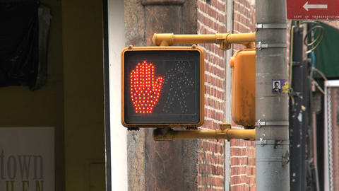 Traffic light ready to cross close up Stock Video Footage