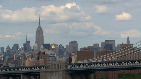 Manhattan bridge Stock Video Footage