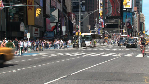 Taxis Times Square Footage