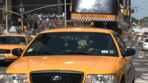 Yellow taxi Stock Video Footage