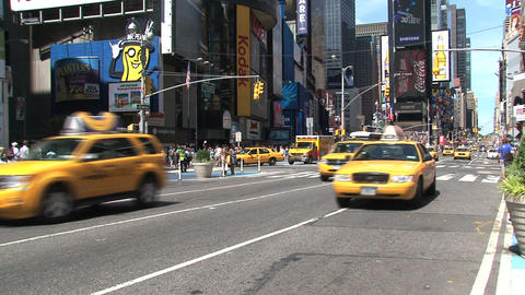 Bus Times Square Stock Video Footage
