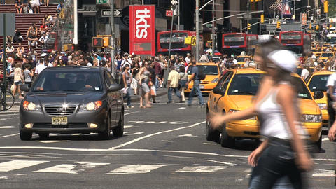 Close up yellow taxis Stock Video Footage