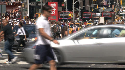 Close up yellow taxis Footage