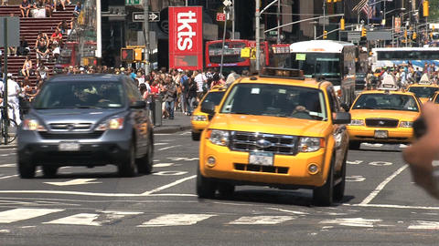 crowded Times Square Stock Video Footage