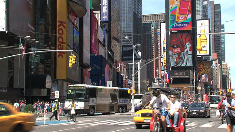 Summer day at Times Square Stock Video Footage