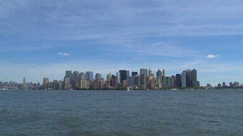 Zoom out from lower manhattan Footage