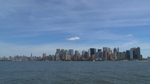 New York City Skyline 2010 stock footage