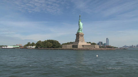 The Statue of Liberty Stock Video Footage