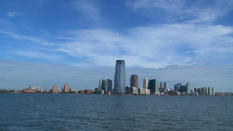New jersey skyline 2010 Stock Video Footage