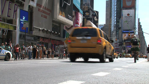Times Square at a summer day Stock Video Footage