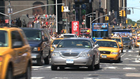 Traffic at times square Stock Video Footage