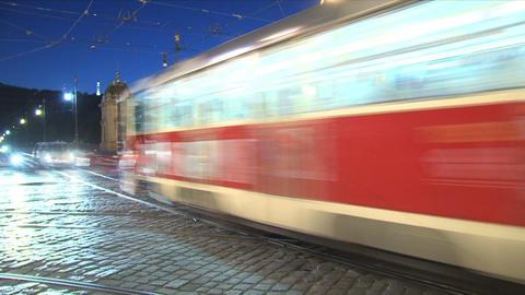 traffic time lapse, Prague Stock Video Footage