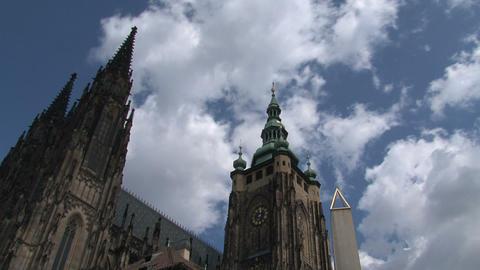 Prague Castle time lapse Stock Video Footage