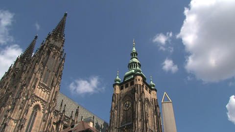 Prague Castle time lapse Stock Video Footage