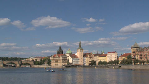 Charles Bridge Stock Video Footage