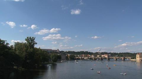 vltava river Stock Video Footage