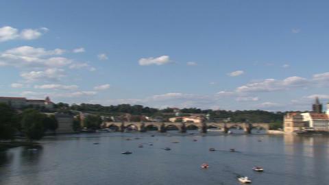 Prague 050Vltava river Stock Video Footage