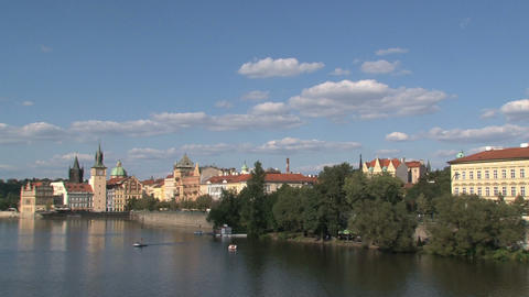 Prague 050Vltava river Footage