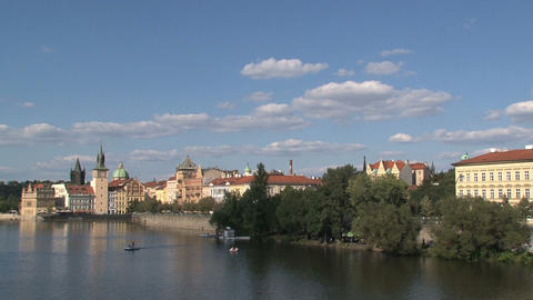 Prague 050Vltava river Stock Video Footage