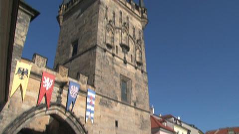 Tilt Bridge tower Stock Video Footage
