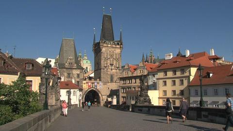 Prague castle Stock Video Footage