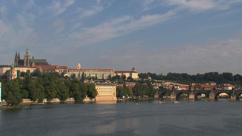 Legion Bridge, Prague Stock Video Footage