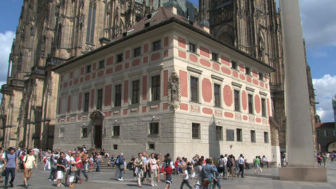 Prague Castle tilt Stock Video Footage