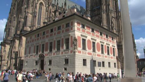 Prague Castle tilt Stock Video Footage