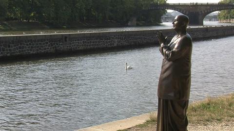 statue of Harmony Stock Video Footage