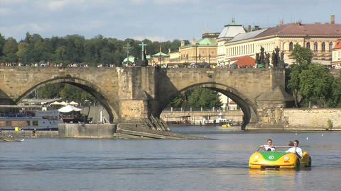 Vltava river Stock Video Footage