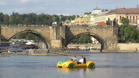 Vltava river Footage