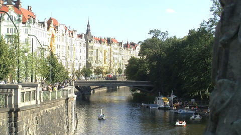 Prague slide Stock Video Footage