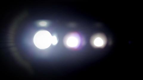 Bright Floodlights Flashing Stock Video Footage