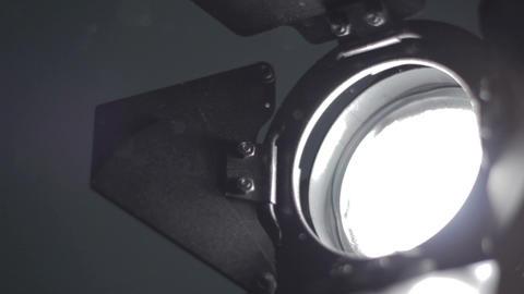 Floodlight turns on Stock Video Footage