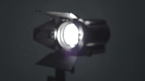 Floodlight. Camera pan Stock Video Footage