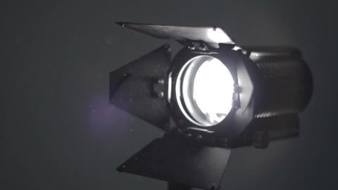 Floodlight. Camera pan Footage