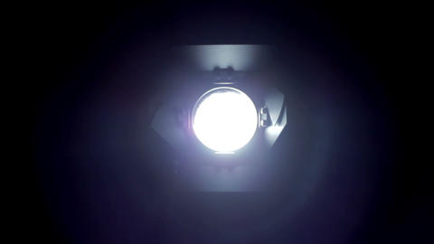 Floodlight turns off and on. Diffrence size Stock Video Footage